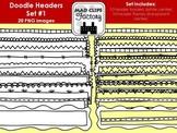 Doodle Headers Set #1