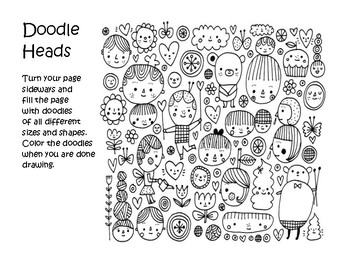 Doodle Heads Drawing Project
