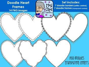 Doodle Heart Frames