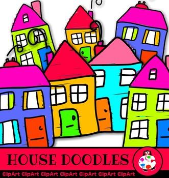 Doodle House Clip Art