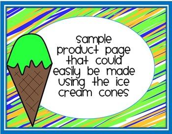 Doodle Ice Cream Cones Clip Art