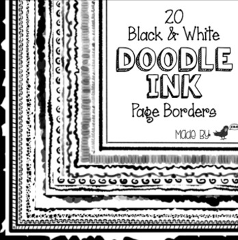 Doodle Ink Page Borders