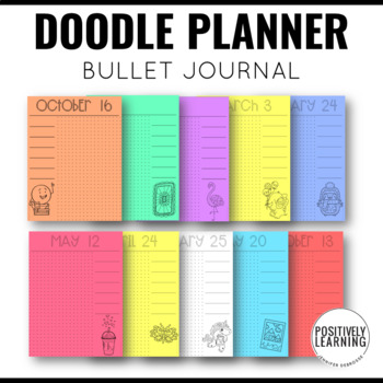 Doodle Journal Pages for a Type A Planner