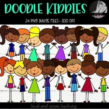 Doodle Kiddies Clipart
