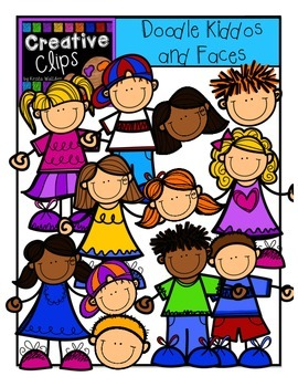 Doodle Kiddos and Faces {Creative Clips Digital Clipart}