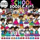 Doodle Kids 2 Growing Clip Art Bundle {Kids Clip Art}