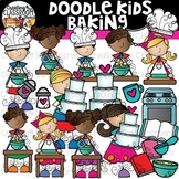 Doodle Kids Baking Clip Art {Kid Clip Art}
