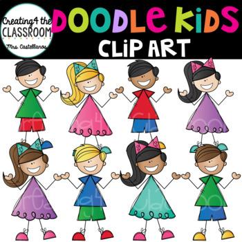 Doodle Kids Clip Art {Kids Clip Art}