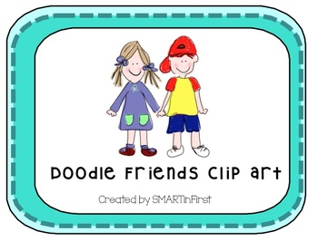 Doodle Friends Clipart