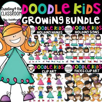 Doodle Kids Clip Art Growing Bundle {Kids Clip Art}