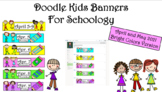 Doodle Kids Weekly Banners for April and May 2021 for Schoology