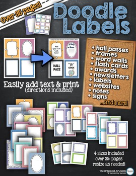 Printable Label & Frame Pack