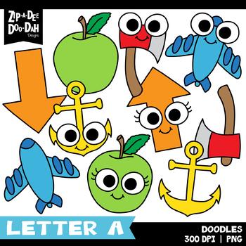 Doodle Letter A Clipart Set {Zip-A-Dee-Doo-Dah Designs}
