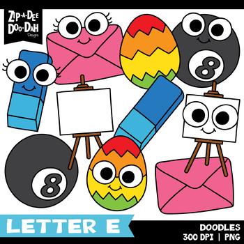 Doodle Letter E Clipart Set {Zip-A-Dee-Doo-Dah Designs}