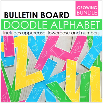 Doodle Letters & Numbers for Bulletin Boards