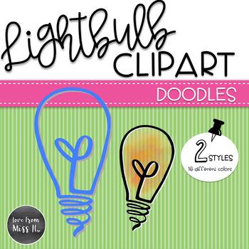 Doodle Lightbulb Clipart