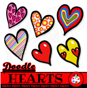 Heart doodle. Love hearts