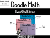 Doodle Math Even/Odd Back to School Theme!!