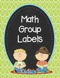 Doodle Math Group Labels