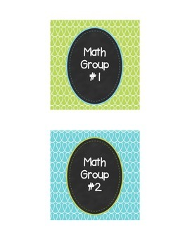 Doodle Math Group Labels