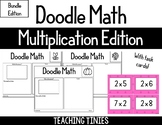Doodle Math Multiplication Edition with Task Cards Bundle