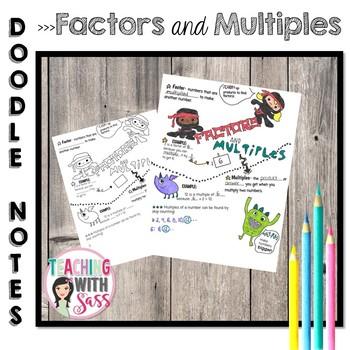 Doodle Math Notes: Factors and Multiples *Bridges G5 Math Resource- Unit 1