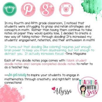 Doodle Math Notes: Finding Decimals on a Number Line *Bridges G5 Math Unit 3