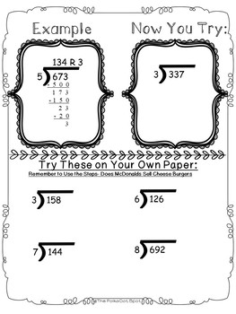 Doodle Math Notes- Long Division