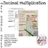 Doodle Math Notes: Multiplying Decimals