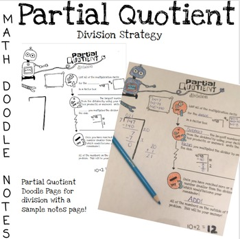 Doodle Math Notes:Partial Quotient Division