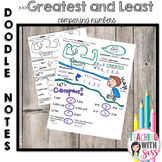 Doodle Math Notes: Place Value: Comparing Greatest and Least Numbers