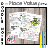 Doodle Math Notes: Place Value Number Forms: Standard, Expanded & Word Form