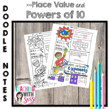 Doodle Math Notes: Place Value & Powers of 10
