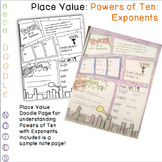 Doodle Math Notes: Powers of 10 With Exponents