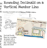 Doodle Math Notes: Rounding Decimals with a Vertical Number Line
