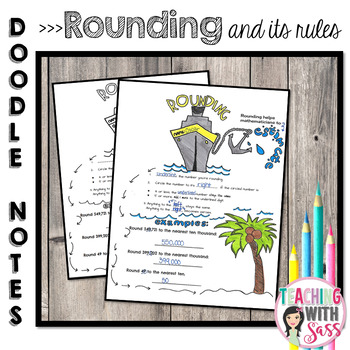 Doodle Math Notes:Rounding & It's Rules