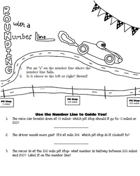 Doodle Math Notes:Rounding with a Number Line