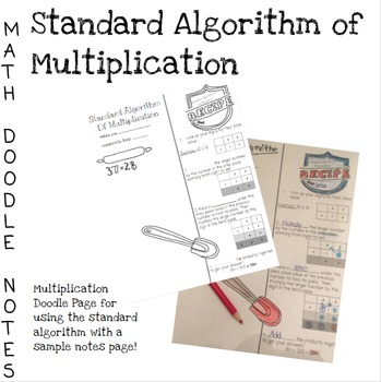 Doodle Math Notes:Standard Algorithm of Multiplication