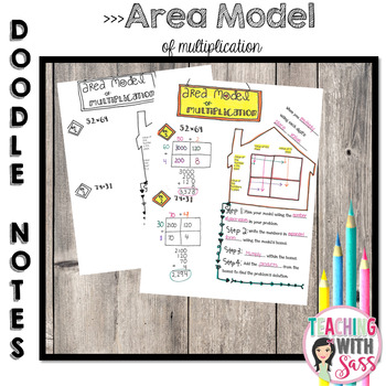 Doodle Math Notes:Standard Algorithm of Multiplication: Area Model