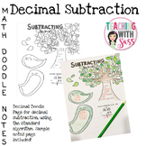 Doodle Math Notes: Subtracting Decimals