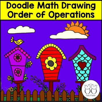 Order of Operations Math Art 4th CCSS Create a Picture With Order of Operations