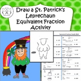 Draw a St. Patricks Leprechaun with Equivalent Fractions