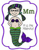 Doodle Mermaid Coloring Pages - Letter Mm