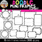 Doodle Mini Frames {Frames Clipart}