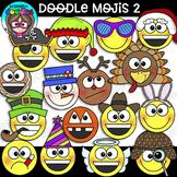 Doodle Mojis 2 Clipart {Scrappin Doodles Clipart}