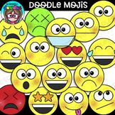 Doodle Mojis Clipart {Scrappin Doodles Clipart}