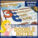 Doodle Note Bundle | ALL of Mrs. Brosseau's Doodle Notes