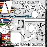 Doodle Note Clip Art Commercial and Personal Use