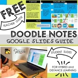 Doodle Note Google Slides Guide for Distance Learning [FREE]