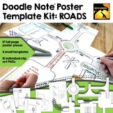 Doodle Note Poster Template Kit - ROADS